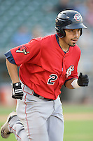Oklahoma CIty OF Hernan Iribarren on Tuesday August 24th, 2010 at the Dell Diamond in Round Rock, Texas.  (Photo by Andrew Woolley / Four Seam Images)