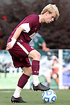 13 November 2011: Boston College's Kyle Bekker (CAN). The University of North Carolina Tar Heels defeated the Boston College Eagles 3-1 at WakeMed Stadium in Cary, North Carolina in the Atlantic Coast Conference Men's Soccer Tournament championship game.