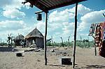 San village, Tchumkwe, Bushman land, Namibia