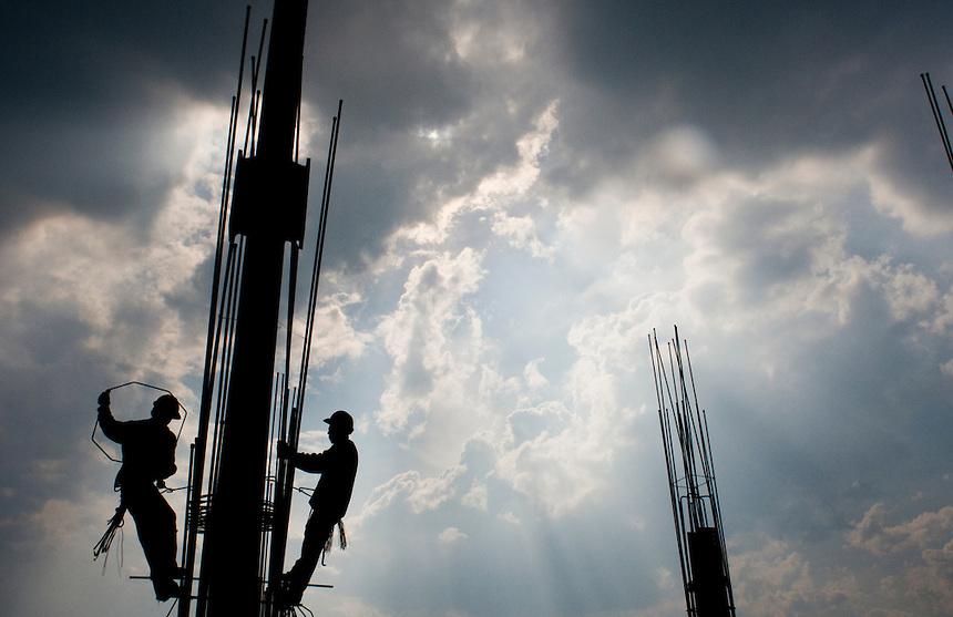 Construction of the Museo Somaya Architect Fernando Romero. Mexico City.