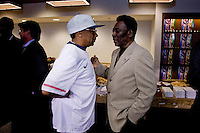 Pele, Spike Lee. The group watched Brazil defeat the United States, 2-0, in an international friendly at the New Meadowlands Stadium in East Rutherford, NJ.