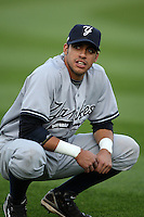 September 4, 2009:   Reegie Corona of the Scranton Wilkes-Barre Yankees before a game at Frontier Field in Rochester, NY.  Scranton is the Triple-A International League affiliate of the New York Yankees and clinched the North Division Title with a victory over Rochester.  Photo By Mike Janes/Four Seam Images