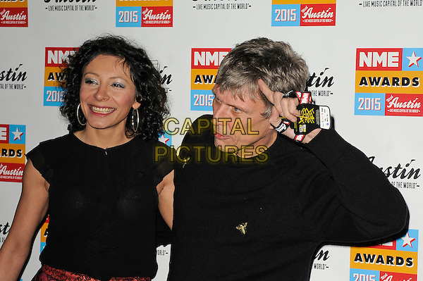 LONDON, ENGLAND - FEBRUARY 18: Bez attending the NME Awards at Brixton Academy on February 18 2015 in London, England.<br /> CAP/MAR<br /> &copy; Martin Harris/Capital Pictures