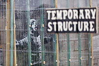 2018 12 25 Banksy graffiti in Port Talbot, Wales, UK