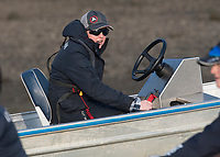 Putney, London,  Tideway Week, OUWBC, Chief Coach Ali WILLIAMS, during the training session, Championship Course. River Thames, <br /> <br /> Tuesday  28/03/2017<br /> [Mandatory Credit; Credit: Peter Spurrier/Intersport Images.com ]<br />  <br /> <br /> NIKON CORPORATION - NIKON D500 - 1/1250 - f5.6  23.6MB MB