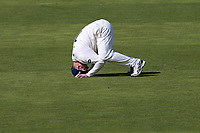 Frustration for Simon Harmer of Essex as a chance goes down during Warwickshire CCC vs Essex CCC, Specsavers County Championship Division 1 Cricket at Edgbaston Stadium on 10th September 2019