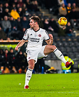 Sheffield United's midfielder Ryan Leonard (14) during the Sky Bet Championship match between Hull City and Sheff United at the KC Stadium, Kingston upon Hull, England on 23 February 2018. Photo by Stephen Buckley / PRiME Media Images.