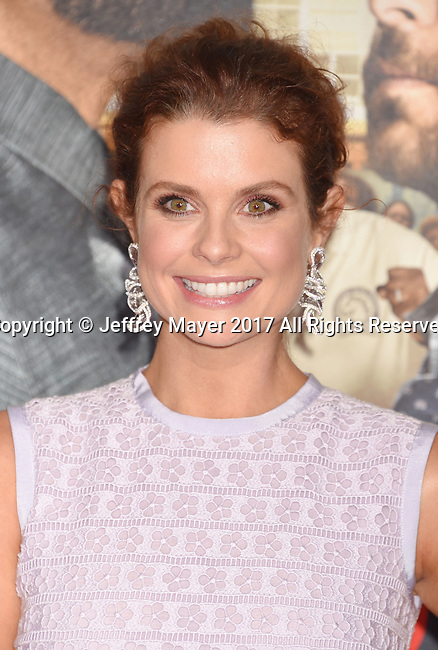 HOLLYWOOD, CA - FEBRUARY 13: Actress JoAnna Garcia attends the premiere of Warner Bros. Pictures' 'Fist Fight' at the Regency Village Theatre on February 13, 2017 in Westwood, California.