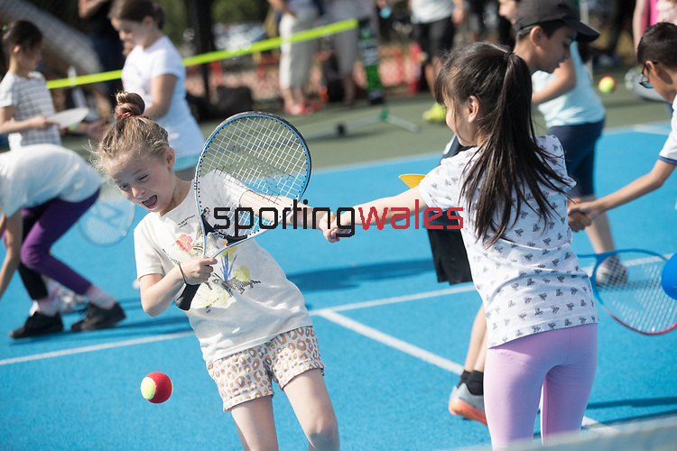 Lawn Tennis Association event at Heath Park, Cardiff.<br /> 17.07.17<br /> ©Steve Pope - Fotowales
