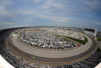 Nov. 8, 2009; Fort Worth, TX, USA;  Overview of the Texas Motor Speedway during the NASCAR Sprint Cup series Dickies 500. Mandatory Credit: Mark J. Rebilas-