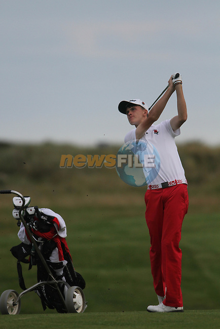 Ashton Turner (ENG) on the Final Day of the 2012 Boys Home Internationals at Co.Louth Golf Club in Baltray, Co.Louth...(Photo credit should read Jenny Matthews/NEWSFILE)...