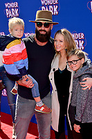 """LOS ANGELES, CA. March 10, 2019: A.J. Cook, Nathan Andersen, Phoenix Andersen & Mekhai Andersen at the premiere of """"Wonder Park"""" at the Regency Village Theatre.<br /> Picture: Paul Smith/Featureflash"""