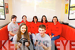 Pictured at the mobile Youth Cafe on Friday last were front l-r: Holly Dennehy and Cillian Foley. Back l-r: Laura Horgan, Geraldine O'Halloran (KDYS) Annette Heaphy, Madeleine Frissung and Nora Butler (KDYS)..