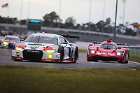 26-29 January, 2017, Daytona Beach, Florida USA<br /> 23, Audi, Audi R8 LMS GT3, GTD, Bill Sweedler, Pierre Kaffer, Townsend Bell, Frank Montecalvo<br /> &copy;2017, Barry Cantrell<br /> LAT Photo USA