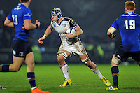 David Denton of Bath Rugby in possession. European Rugby Champions Cup match, between Leinster Rugby and Bath Rugby on January 16, 2016 at the RDS Arena in Dublin, Republic of Ireland. Photo by: Patrick Khachfe / Onside Images