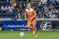 Bridgeview, IL - Saturday July 23, 2016:  Houston Dash defender Ellie Brush (8) during a regular season National Women's Soccer League (NWSL) match between the Chicago Red Stars and the Houston Dash at Toyota Park.