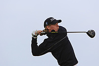 Cole Wilson (CAN) on the 1st tee during Round 1of the Flogas Irish Amateur Open Championship 2019 at the Co.Sligo Golf Club, Rosses Point, Sligo, Ireland. 16/05/19<br /> <br /> Picture: Thos Caffrey / Golffile<br /> <br /> All photos usage must carry mandatory copyright credit (© Golffile | Thos Caffrey)