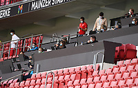 24th May 2020, Opel Arena, Mainz, Rhineland-Palatinate, Germany; Bundesliga football; Mainz 05 versus RB Leipzig; Journalists and press in the stands in masks