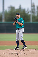 AZL Mariners starting pitcher Joey O'Brien (16) prepares to deliver a pitch during an Arizona League game against the AZL White Sox at Camelback Ranch on July 8, 2018 in Glendale, Arizona. The AZL White Sox defeated the AZL Mariners 8-5. (Zachary Lucy/Four Seam Images)