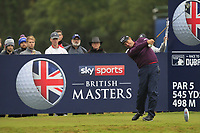 Padraig Harrington (IRL) on the 2nd tee during Round 4 of the Sky Sports British Masters at Walton Heath Golf Club in Tadworth, Surrey, England on Sunday 14th Oct 2018.<br /> Picture:  Thos Caffrey | Golffile