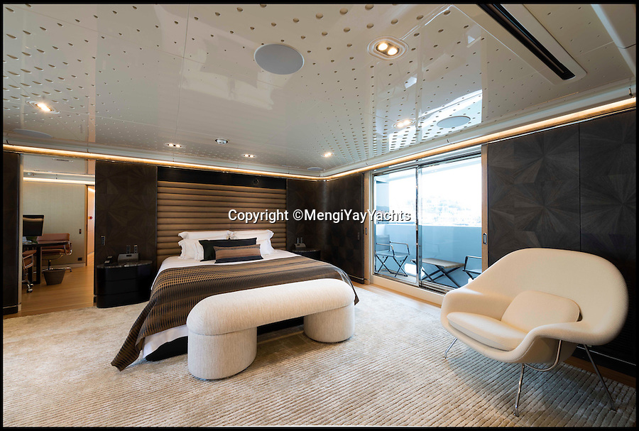 BNPS.co.uk (01202 558833)<br /> Pic: MengiYayYachts/BNPS<br /> <br /> A yacht builder has turned back the clock with this stylish superyacht - built out of wood.<br /> <br /> The one-off custom build Aquarius looks similar to other mega-yachts on the market but instead of being built from steel and aluminium it is constructed from wood.<br /> <br /> The 147ft long, triple decker yacht's internal frames and beams are sapelli and mahogany, while the rest of the boat is made out of plywood. The outer shell has been laminated and painted.<br /> <br /> It has a retail price of 18million euros and was designed for a British owner who asked for the yacht to be built with wood as this would last longer than steel and be more flexible for manufacturing and repairs.