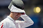 Keisuke Sakamoto (JPN),<br /> AUGUST 8, 2013 - Fencing :<br /> World Fencing Championships Budapest 2013, Men's Individual Epee Round of 64 at Syma Hall in Budapest, Hungary. (Photo by Enrico Calderoni/AFLO SPORT) [0391]