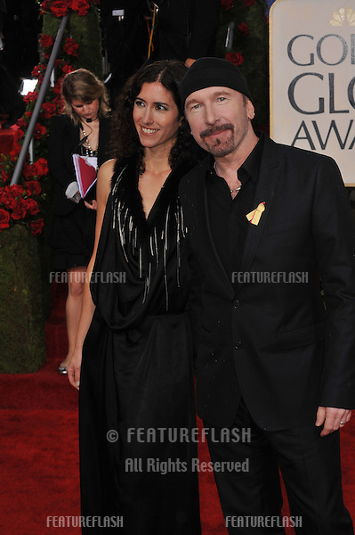 U2's The Edge & wife Morleigh at the 67th Golden Globe Awards at the Beverly Hilton Hotel..January 17, 2010  Beverly Hills, CA.Picture: Paul Smith / Featureflash