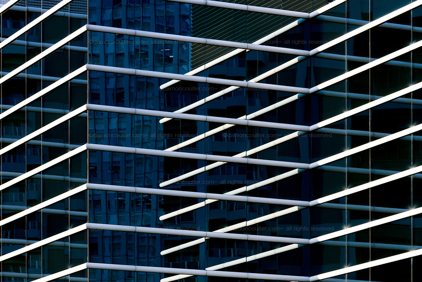Abstract image of an office  building in Tokyo, Japan November 26th 2016