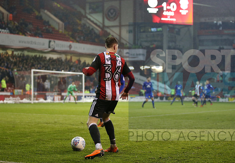 David Brooks of Sheffield Utd in action during the Championship match at Bramall Lane Stadium, Sheffield. Picture date 02nd April, 2018. Picture credit should read: Simon Bellis/Sportimage