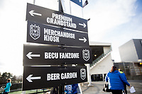 Seattle, WA - Saturday March 24, 2018: Signage during a regular season National Women's Soccer League (NWSL) match between the Seattle Reign FC and the Washington Spirit at the UW Medicine Pitch at Memorial Stadium.