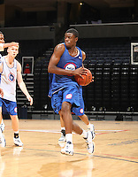 Reggie Bullock handles the ball during the 2009 NBPA Top 100 Basketball Camp held Friday June 17- 20, 2009 in Charlottesville, VA. Photo/ Andrew Shurtleff