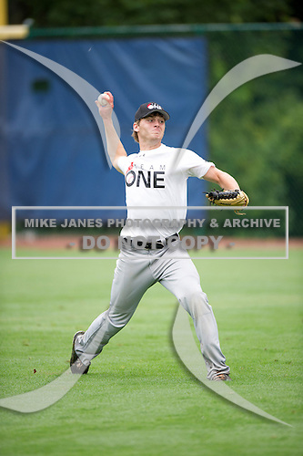 Heath Quinn #21 during the Team One South Showcase presented by Baseball Factory at Chappell Park on July 14, 2012 in Atlanta, Georgia.  (Copyright Mike Janes Photography)