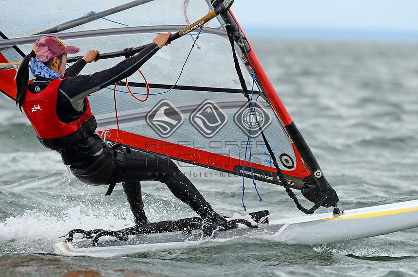 RSX-Women / Yunxiu LU (CHN)<br /> 2013 ISAF Sailing World Cup - Melbourne<br /> Sail Melbourne - The Asia Pacific Regatta<br /> Sandringham Yacht Club, Victoria<br /> December 1st - 8th 2013<br /> &copy; Sport the library / Jeff Crow