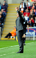 FAO SPORTS PICTURE DESK<br /> Pictured: Swansea manager Brendan Rodgers. Saturday, 28 April 2012<br /> Re:  Premier League football, Swansea City FC v Wolverhampton Wanderers at the Liberty Stadium, south Wales.