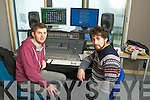 Steve Clifford (Cork) and Laurence Counihan Rathmore, Secondary Schools competition targeting for students who want to do original music in the college and if they win go to the college for two day mixing recording and producing the song and it is released on itunes are proceeds going to them. All schools in Kerry including KDYS and Tralee Community College are taking part..