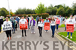 On the150th day of their protest at Debenhams Manor on Saturday. L to r: Deirdre Mangan, Geraldine O'Regan, Trish O'Sullivan, Amy Hourigan and Sarah Hennessy.