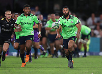 DURBAN, SOUTH AFRICA - MAY 05: Lima Sopoaga of the Pulse Energy Highlanders during the Super Rugby match between Cell C Sharks and Highlanders at Jonsson Kings Park Stadium in Durban, South Africa on Saturday, 5 May 2018. Photo: Steve Haag / stevehaagsports.com