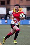 Xiaohui Huang of China runs in a try during the Asia Rugby U20 Sevens 2017 at King's Park Sports Ground on August 4, 2017 in Hong Kong, China. Photo by Yu Chun Christopher Wong / Power Sport Images