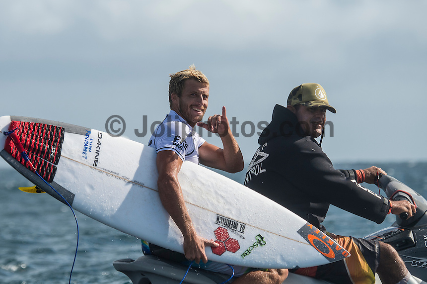 Namotu Island Resort, Namotu, Fiji. (Monday June 2, 2014) Sebastien 'Seabass'  Zietz (HAW) – The 2014 Fiji Pro was called on this morning with the swell running in the 3' plus range. The start was delayed till 10.30 am because of the 9.30 am high tide and then they ran the whole of Round 1. Photo: joliphotos.com