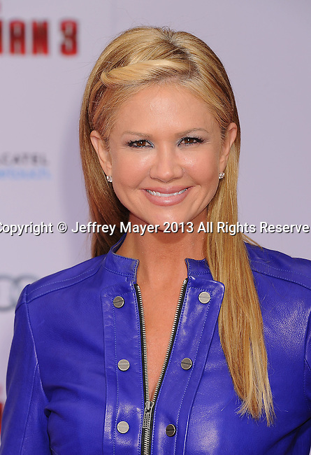 "HOLLYWOOD, CA- APRIL 24: TV Personality Nancy O'Dell arrives at the Los Angeles Premiere of ""Iron Man 3"" at the El Capitan Theatre on April 24, 2013 in Hollywood, California."