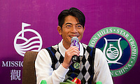 HAIKOU, CHINA - OCTOBER 28:  Hong Kong singer and film actor Aaron Kwok attends a press conference during the Mission Hills Star Trophy on October 28, 2010 in Haikou, China. The Mission Hills Star Trophy is Asia's leading leisure liflestyle event and features Hollywood celebrities and international golf stars.  Photo by Victor Fraile / studioEAST