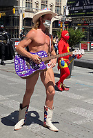 NEW YORK, NY-. - MAY 17: The Naked Cowboy Returns to Times Square during the coronavirus pandemic in New York City on May 17, 2020. <br /> CAP/MPI/RMP<br /> ©RMP/MPI/Capital Pictures