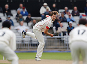 7th September 2017, Emirates Old Trafford, Manchester, England; Specsavers County Championship, Division One; Lancashire versus Essex; Tom Bailey of Lancashire bowls in his opening spell
