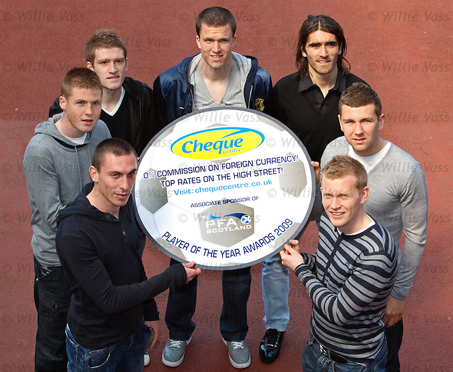 Gary Caldwell, Pedro Mendes, Scott Brown and Steven Davis promote PFA Scotland's search for player of the year along with young player candidates James McCarthy, James McArthur and Andrew Driver