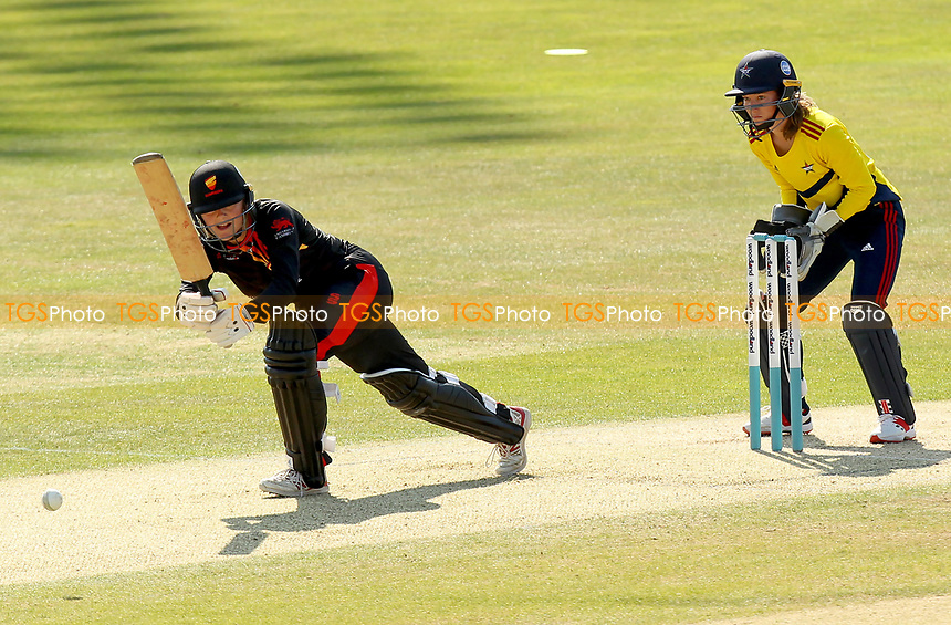 Hayley Brown of Sunrisers hits out during Sunrisers vs South East Stars, Rachael Heyhoe Flint Trophy Cricket at The Cloudfm County Ground on 13th September 2020