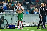 Stockholm 2014-03-04 Fotboll Svenska Cupen Hammarby IF - &Auml;ngelholms FF :  <br /> Hammarbys Johan Persson g&aring;r av planen efter att ha blivit utvisad<br /> (Foto: Kenta J&ouml;nsson) Nyckelord:  HIF Bajen &Auml;ngelholm depp besviken besvikelse sorg ledsen deppig nedst&auml;md uppgiven sad disappointment disappointed dejected skada skadan ont sm&auml;rta injury pain