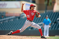 Washington Nationals pitcher Michael Cuevas (31) during an Instructional League game against the Miami Marlins on September 25, 2019 at Roger Dean Chevrolet Stadium in Jupiter, Florida.  (Mike Janes/Four Seam Images)