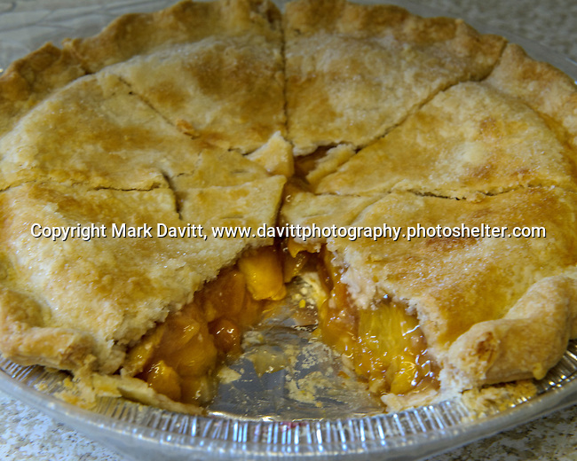Victory Church served pies by Tina's Homemade <br /> Goodies of Indianola like this peach pie a the Warren County Fair.