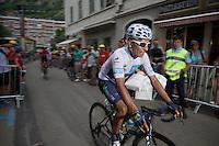 Nairo Quintana (COL/Movistar) to the start<br /> <br /> stage 19: St-Jean-de-Maurienne - La Toussuire / Les Sybelles   (138km)<br /> Tour de France 2015