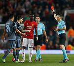Eric Bailly of Manchester United is sent off during the Europa League Semi Final 2nd Leg match at Old Trafford Stadium, Manchester. Picture date: May 11th 2017. Pic credit should read: Simon Bellis/Sportimage